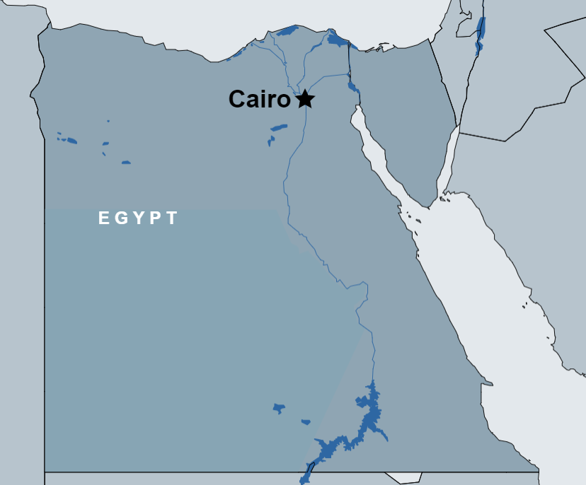 Stopover Tour of Cairo map