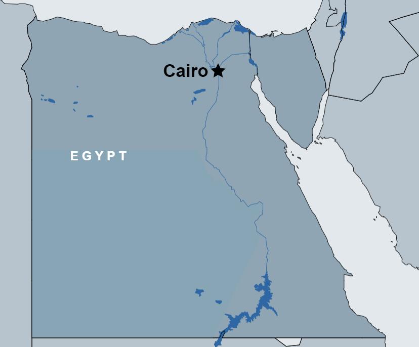 Camel Ride Trip at the Pyramids map