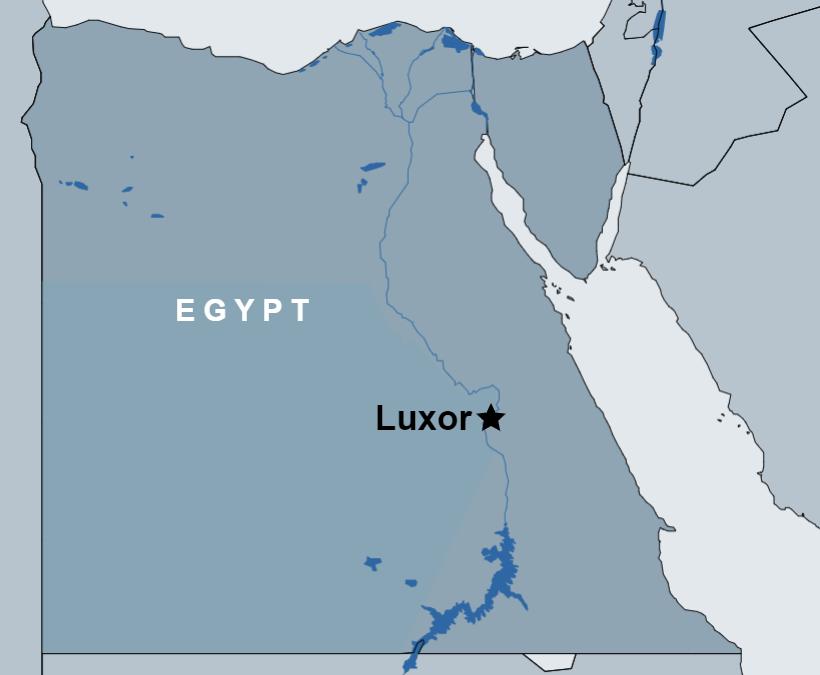 Hot Air Balloon ride Over Luxor map