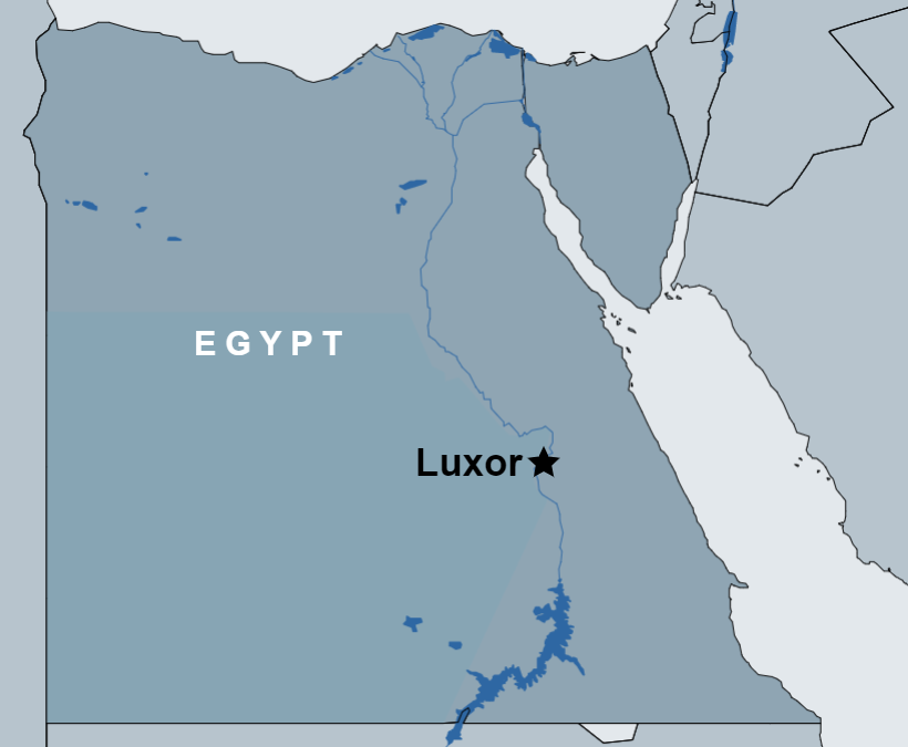 Private tour to the East and West Bank of Luxor map