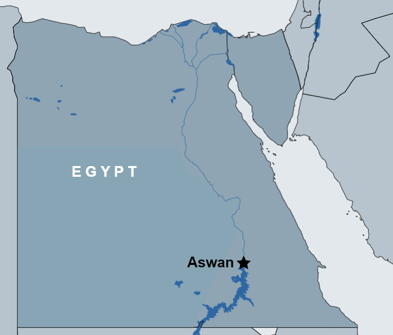 Day Tour of Aswan , Philae temple, High Dam and Obelisk map