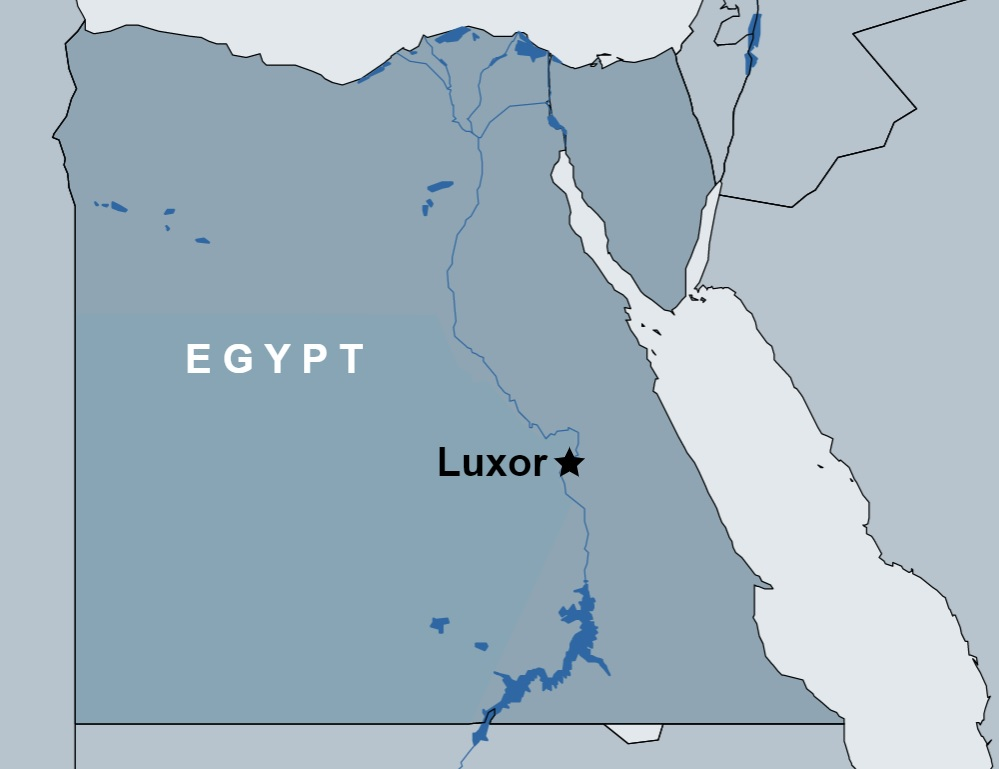 3 Day Luxor Tour Package map