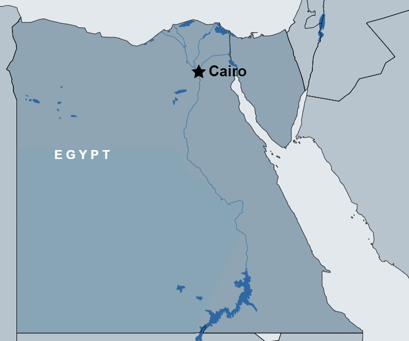 5 Day Tour of Cairo map