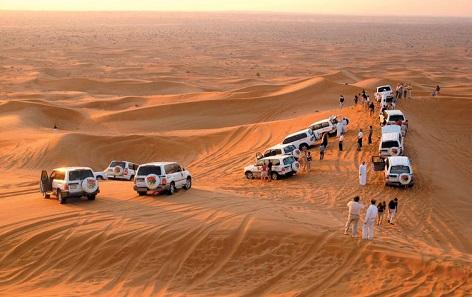 Dubai Superior Safari Tour with BBQ Dinner map