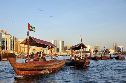 Dubai Creek cruise map