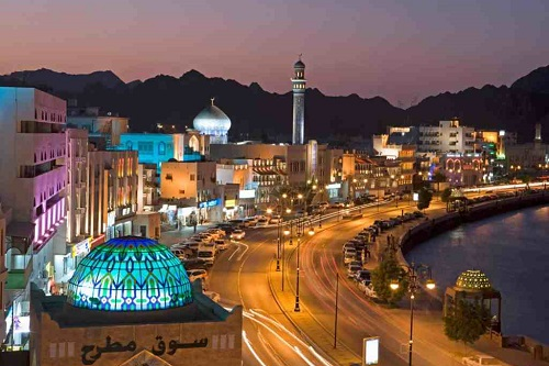 Muscat by Night City Tour map