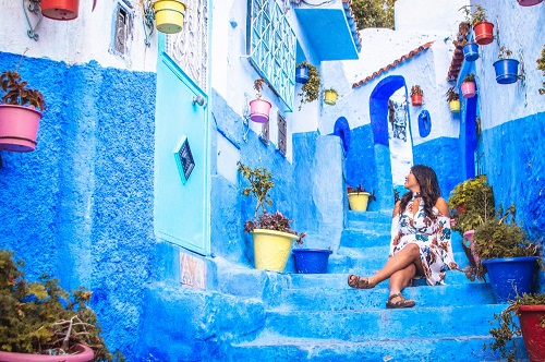 Highlights of Morocco and Chefchaouen Tour map