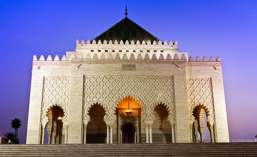 Rabat Trip from Casablanca Port map