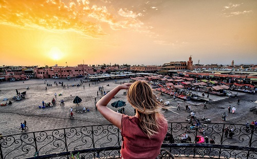 Shore Excursions from Casablanca to Marrakech map