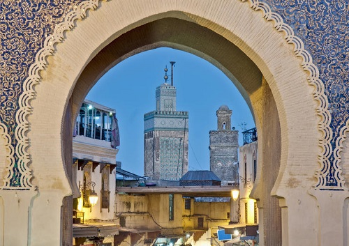 Tour from Casablanca to Fez map