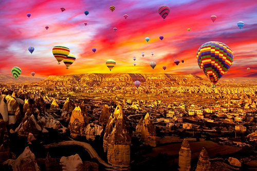 Cappadocia Hot Air Balloon Tour map