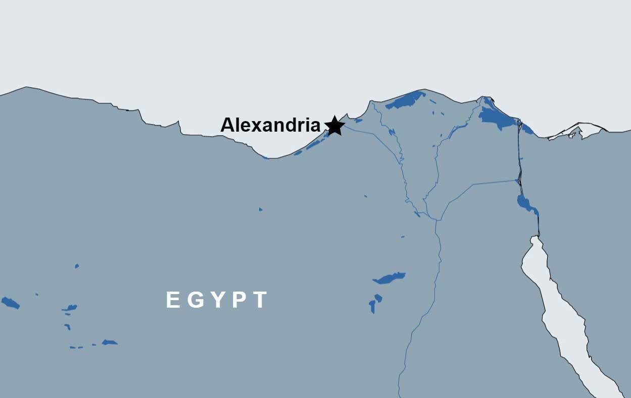 Day Tour to Alexandria City map