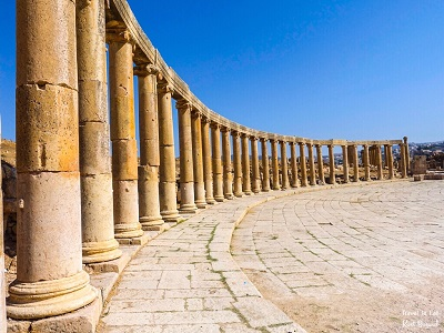 Oval Plaza of Jerash Jordan