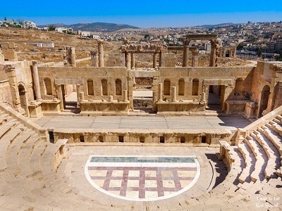 North Theater of Jerash Jordan